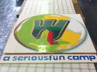 Barretstown Camp logo - LEGO style