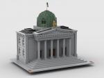 Courthouse built in Bricklink Studio