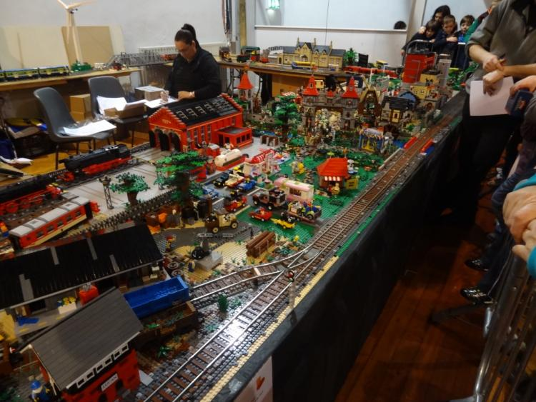 Layout at MRSI Train Show from Freight Yard