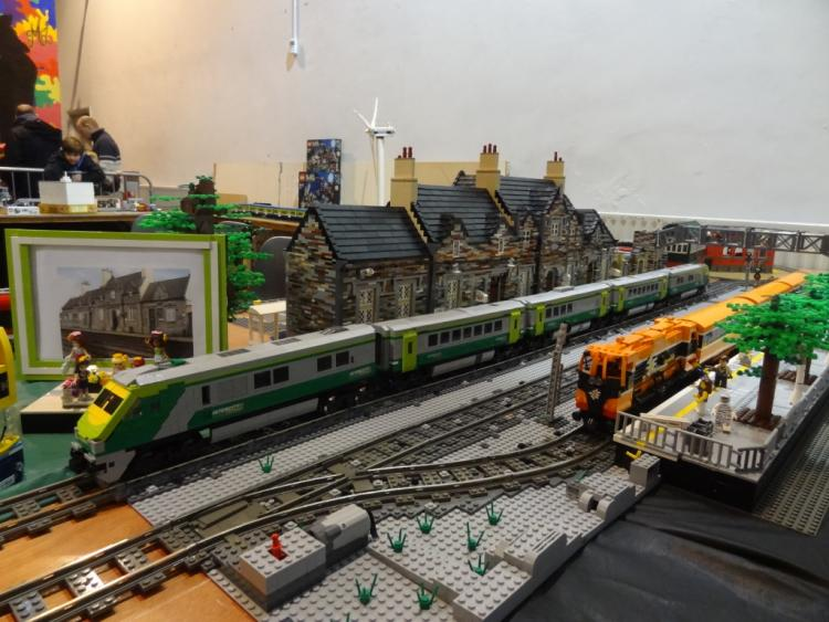 Layout at MRSI Train Show from Kildare Station