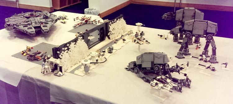 Battle of Hoth at Ashbourne Library, December 2014