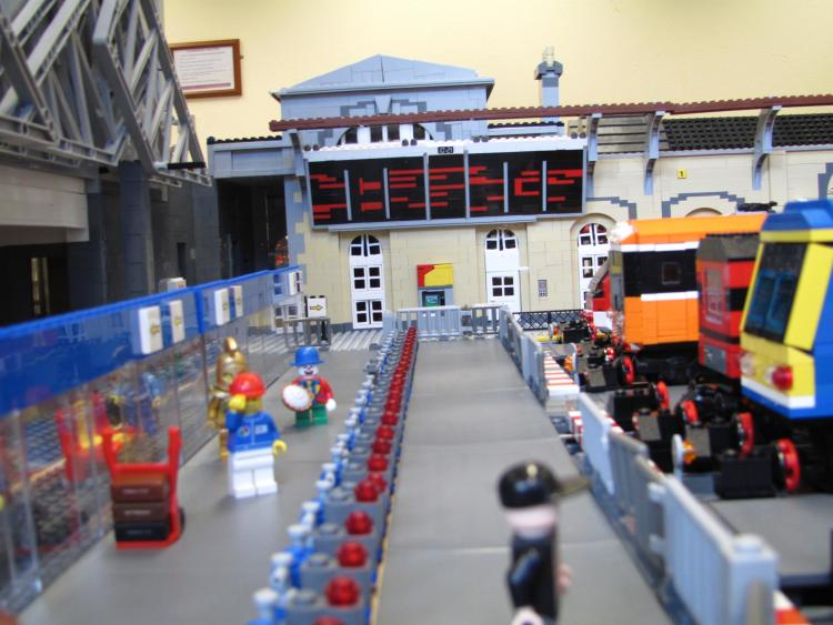 Arrivals board at Heuston station