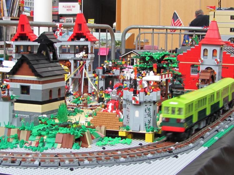 LEGO DART approaches medieval corner