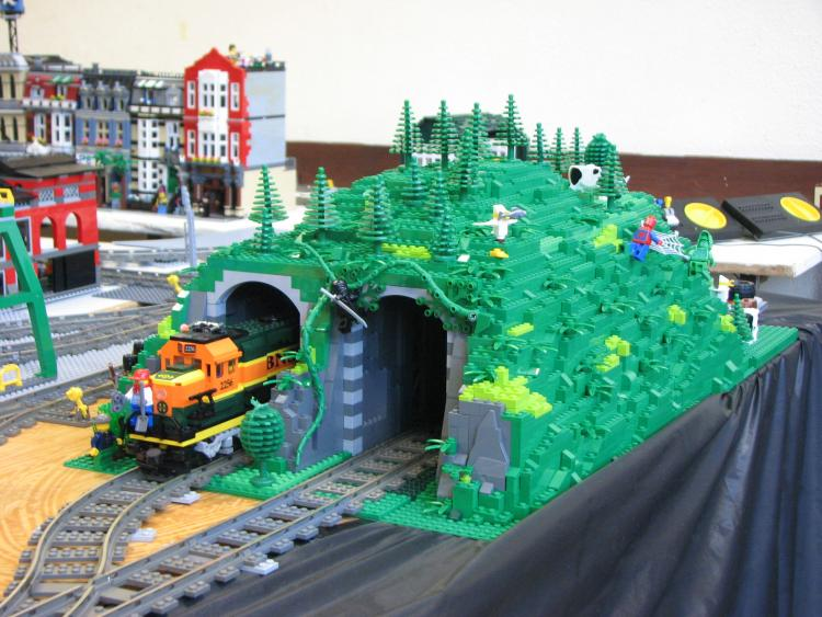 Tunnel at brick.ie display for SDMRC exhibition 2011