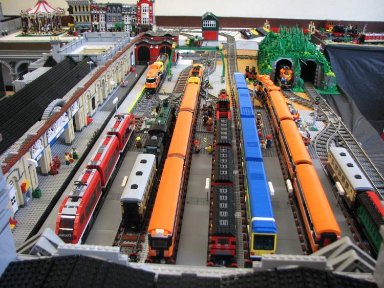 Peering over Heuston Station - Platforms at SDMRC exhibition 2011