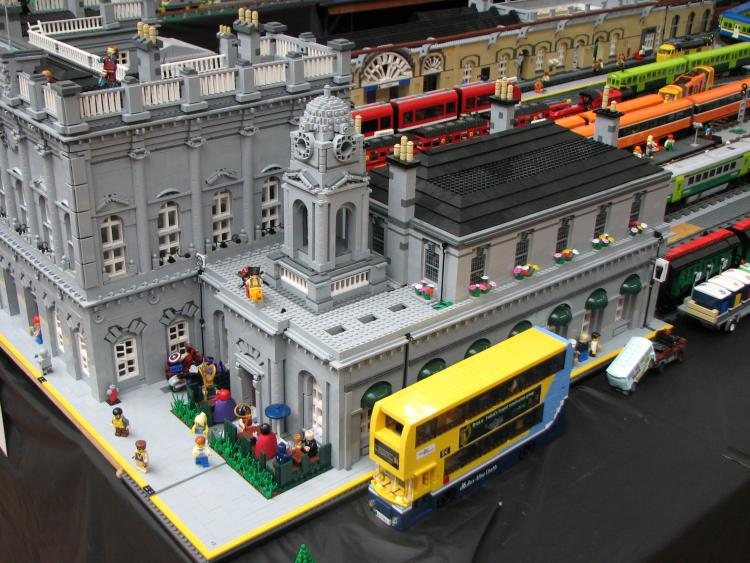 Heuston station at Dun Laoghaire model railway exhibition including Dublin Bus