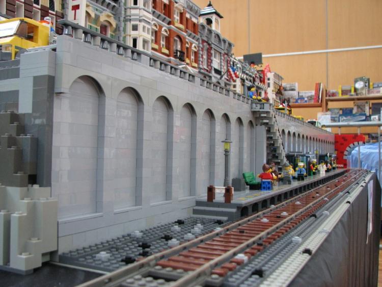 High street train station platform
