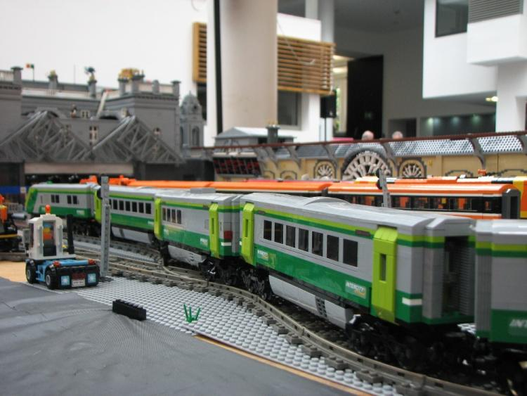 Irish Rail Mark IV at Dun laoghaire - LEGO style