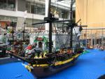 British ship and fort