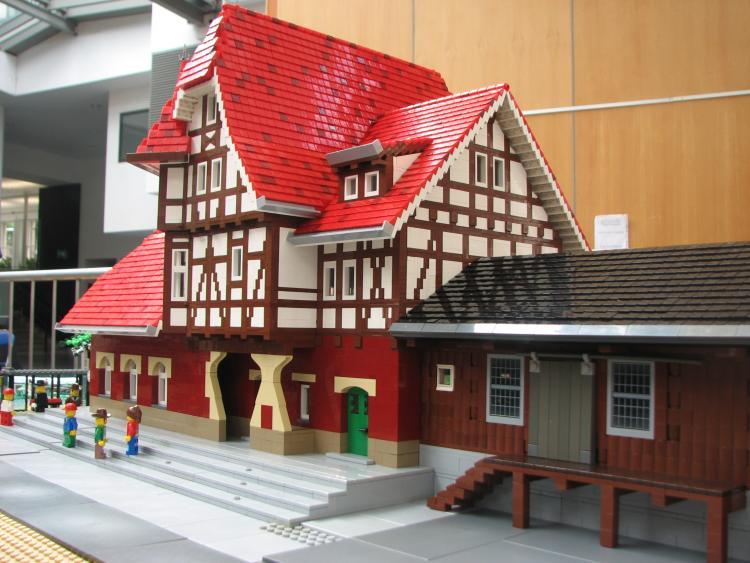 German train station - street side