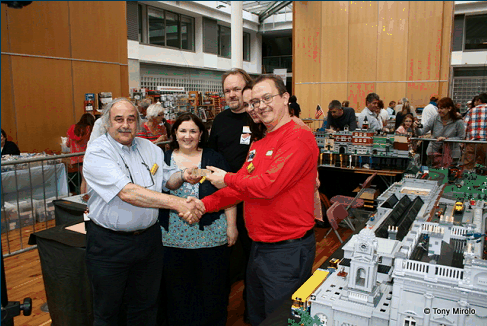 Congratulations to the Lego exhibit (stand No.14.)