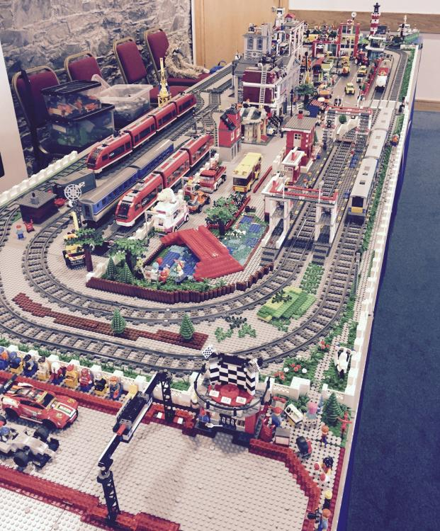 Lego Train Layout at Bangor Model Railway Club - May 2015