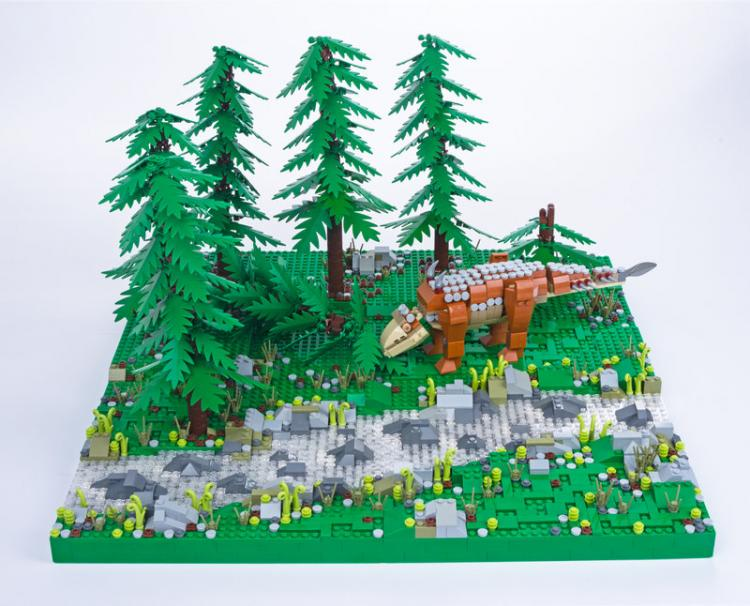 Jurassic Brick Aletopelta Diorama by janetvand