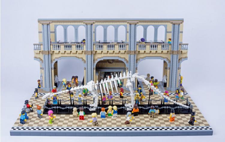 Jurassic Brick Brontosaurus Diorama by janetvand