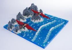 Jurassic Brick Pterandon Diorama by janetvand
